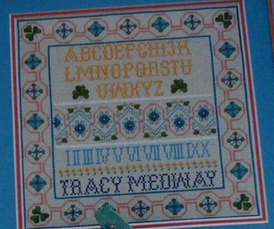 Elizabethan Knot Garden Sampler ~ Cross Stitch Chart