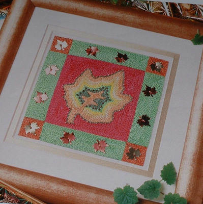Space Dyed Threads Autumn Leaf: Embroidery Pattern