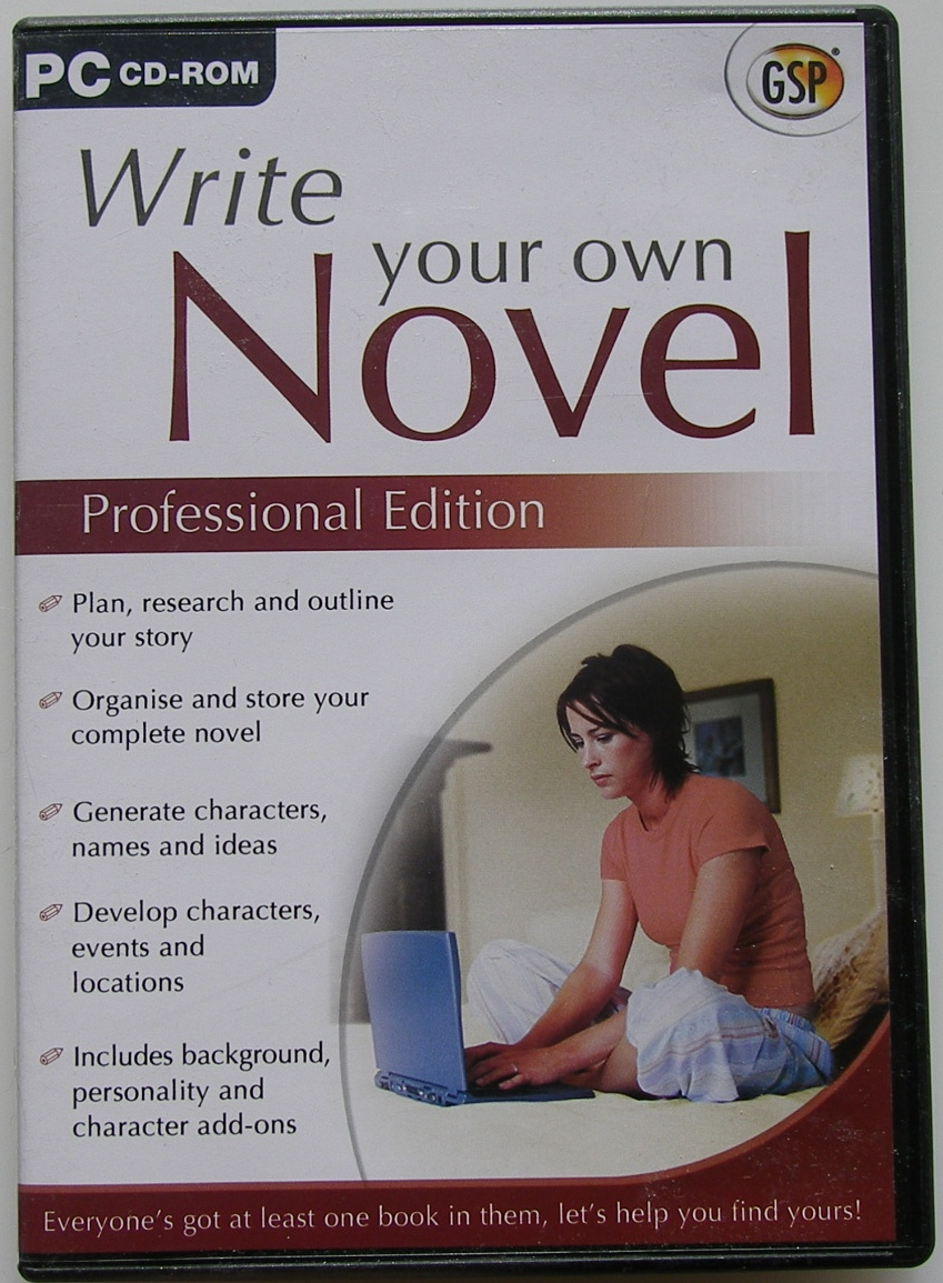 Write Your Own Novel Professional Edition PC CD-ROM