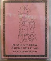 Sugar Nellie: Bloom and Grow ~ Rubber Stamp