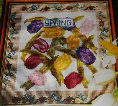 Spring Tulips Sampler ~ Needlepoint Pattern