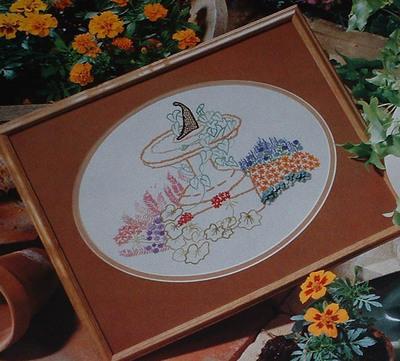 Summer Sundial Garden ~ Embroidery Pattern