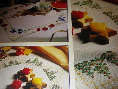 Christmas Tree & Poppy Fields Tablecloths ~ 2 Cross Stitch Charts