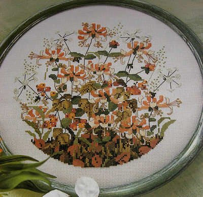 Honeysuckle Hedgerow ~ Cross Stitch Chart