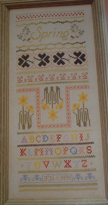 Spring Sampler ~ Cross Stitch Chart
