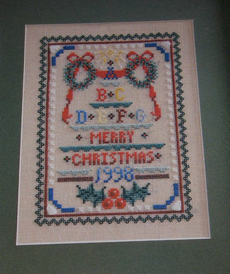 Kreinik Silks Christmas Sampler ~ Counted Thread Chart