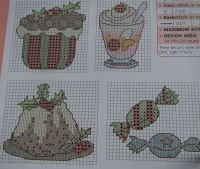 Christmas Food ~ 27 Cross Stitch Charts