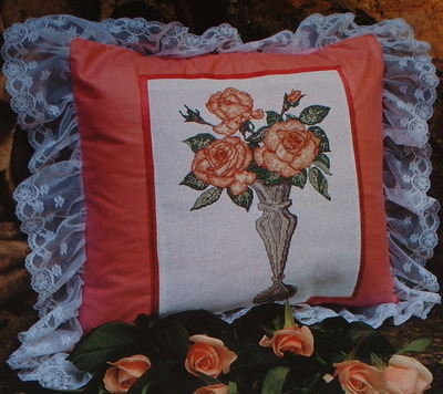 Vase of Roses ~ Cross Stitch Chart