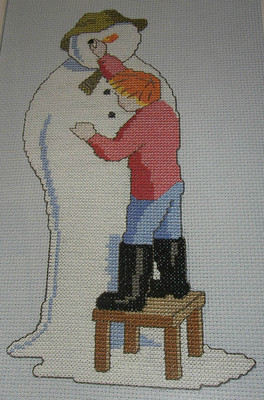 The Snowman ~ Cross Stitch Chart