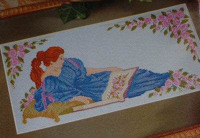 Pre-Raphaelite Lady ~ Cross Stitch Chart