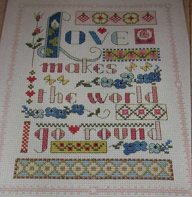 Love Makes the World Go Round ~ Cross Stitch Chart