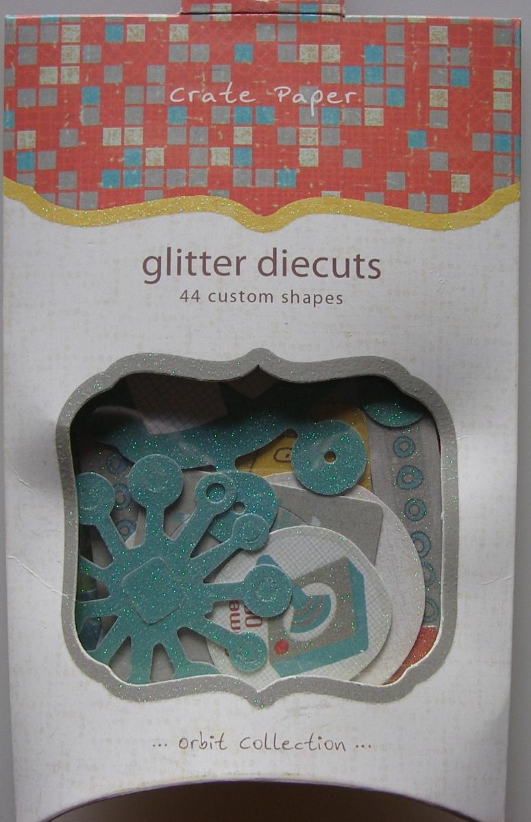 Crate Paper ~ Orbit Glitter Dicuts: 44 Shapes OB509