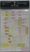 Heidi Swapp: Self Adhesive Chipboard Alphabet ~ Center of Attention Mixed Up