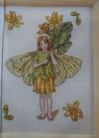 Celandine Flower Fairy ~ Flower Fairies ~ Cross Stitch Chart