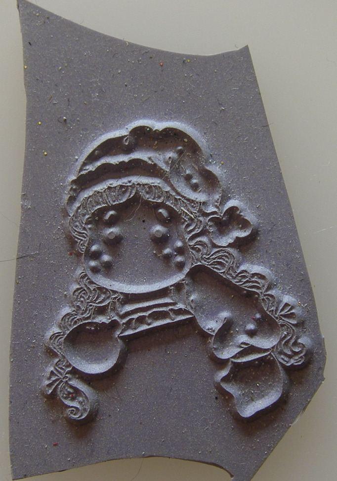 Mini Magnolia Unmounted Rubber Stamp: Holding Tilda