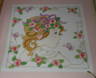 Art Nouveau Lady ~ Cross Stitch Chart