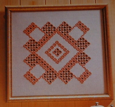 Norwegian Hardanger Decorative Panel ~ Hardanger Pattern