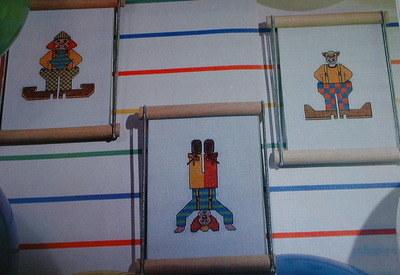 Three Clowns ~ Cross Stitch Charts