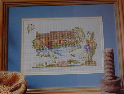 Old Water Mill ~ Cross Stitch Chart