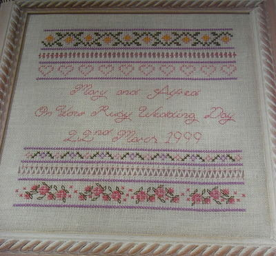 Wedding Anniversary Sampler ~ Counted Thread Pattern