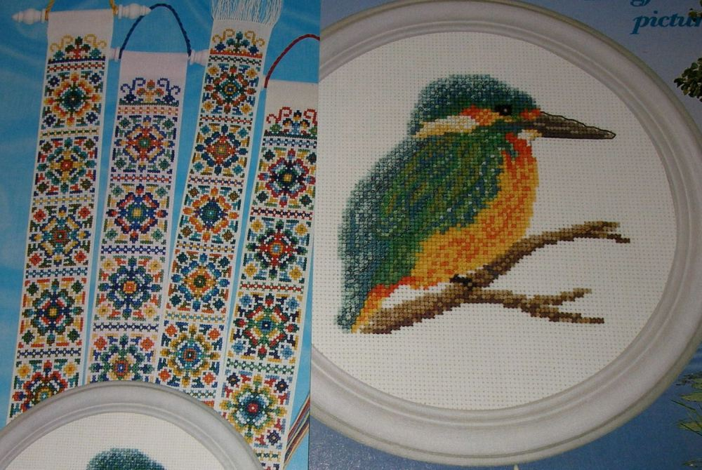 The Kingfisher & Natural Colour Schemes ~ Cross Stitch Charts