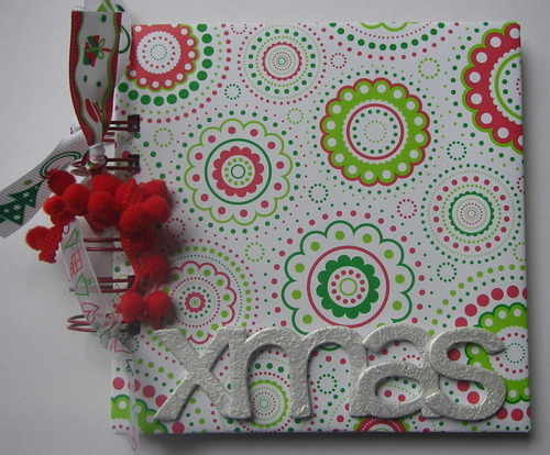 *red white green xmas* notebook front