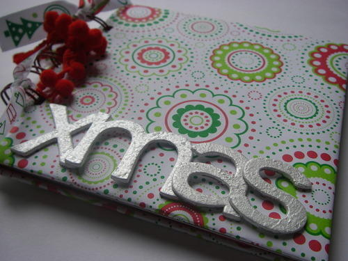 *red white & green xmas* notebook left
