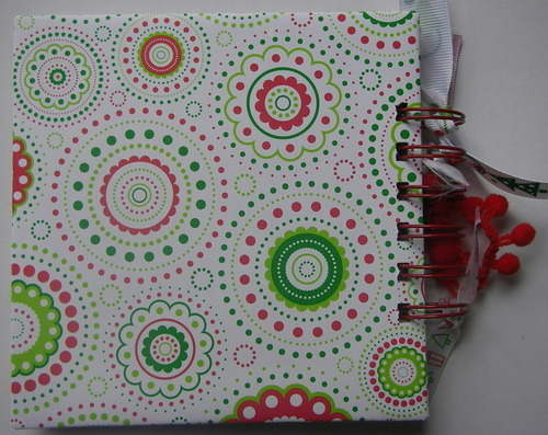 *red white & green xmas* notebook back