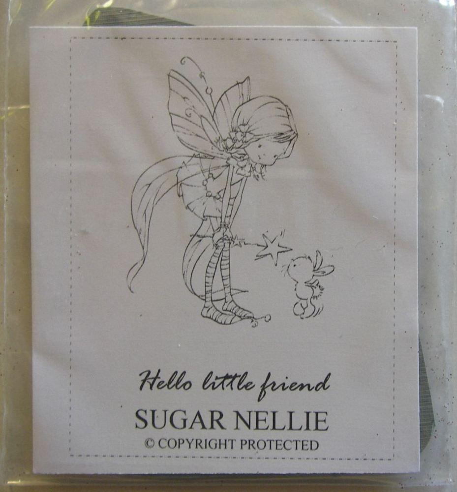 Sugar Nellie: Hello Little Friend ~ Unmounted Rubber Stamp