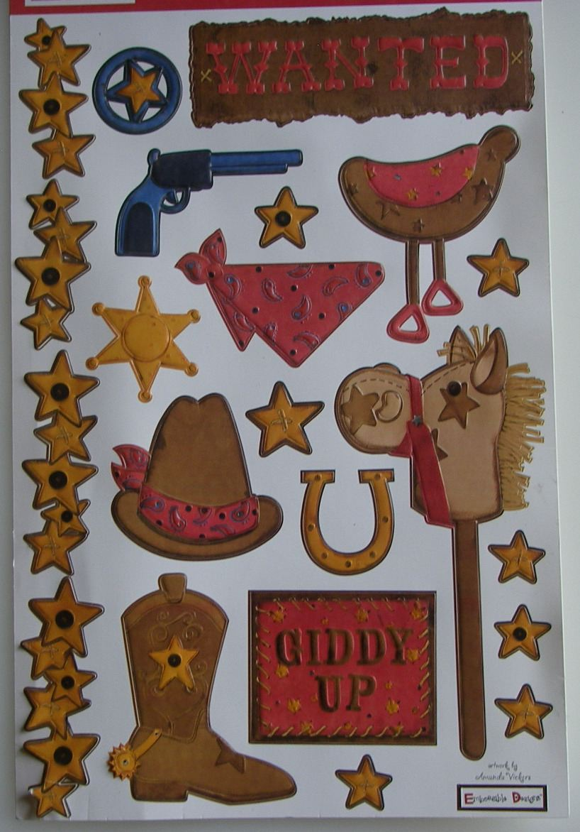 We R Memory Keepers: Wanted ~ Embossed Cardstock Stickers
