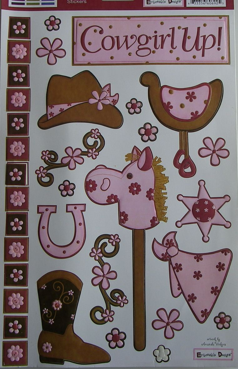 We R Memory Keepers: Cowgirl Up ~ Embossed Cardstock Stickers