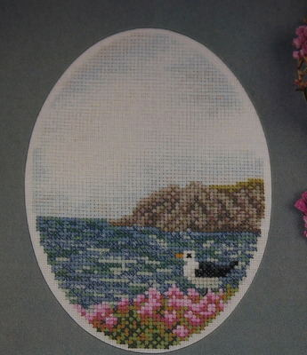 Rugged Coastline with Seagull ~ Cross Stitch Chart