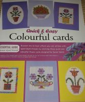 Six Space-Dyed Threads Flower Cards ~ Cross Stitch Charts