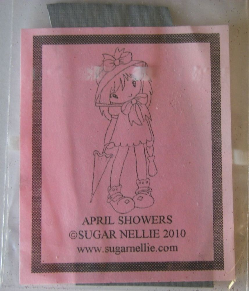 Sugar Nellie: April Showers ~ Rubber Stamp