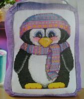 Cute Penguin Door Stop ~ Cross Stitch Chart