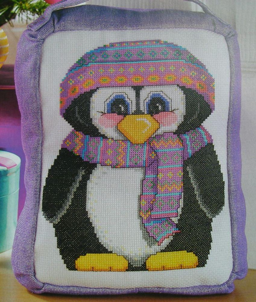 Cute Penguin Door Stop ~ Cross Stitch Chart