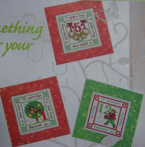 Twelve Days of Christmas Cards ~ Cross Stitch Charts