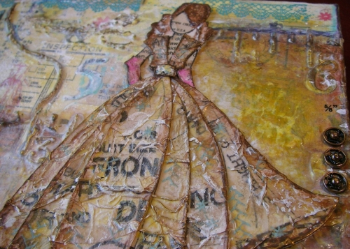*copyright 1983* OOAK Handmade Original Mixed Media Home Decor Canvas