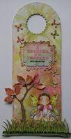 *i believe in fairies* OOAK Handmade Door Hanger / Wall Hanging