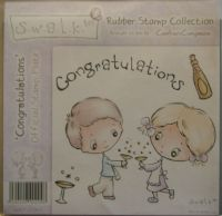 Crafter's Companion S.W.A.L.K. Congratulations ~ Rubber Stamp