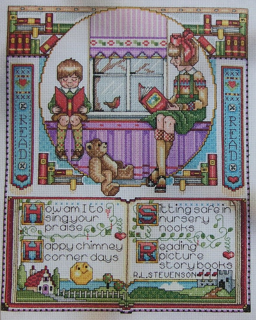 Children's Reading Sampler ~ Cross Stitch Chart