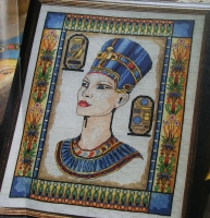 Egyptian Queen Nefertiti ~ Cross Stitch Chart