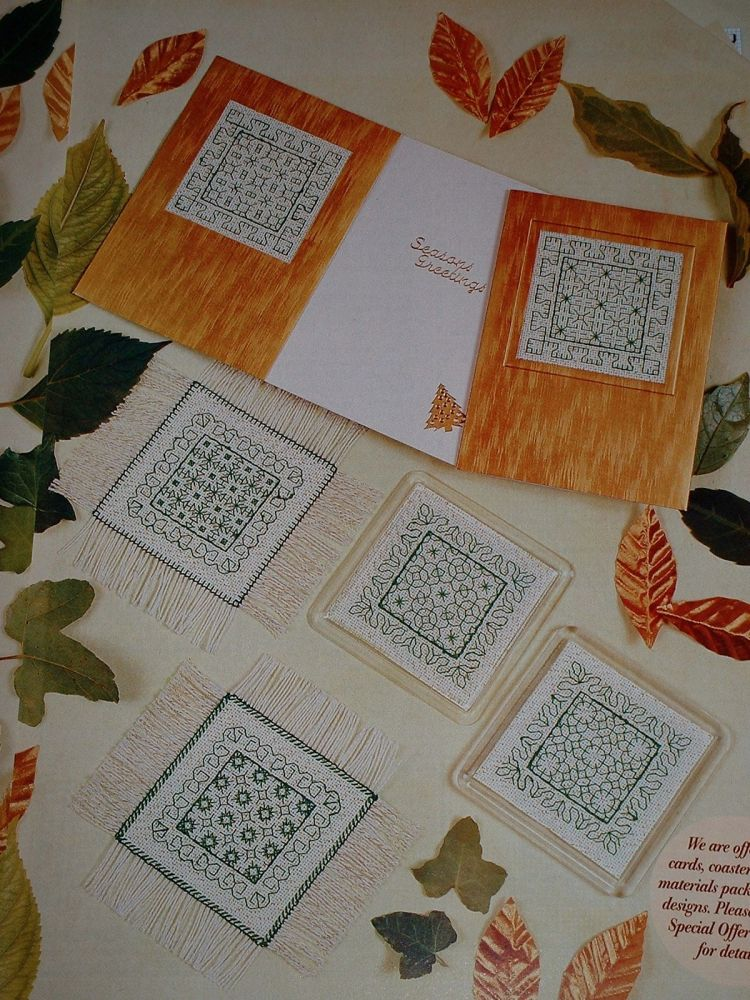 Reversible Blackwork Masterclass ~ Three Blackwork Embroidery Patterns