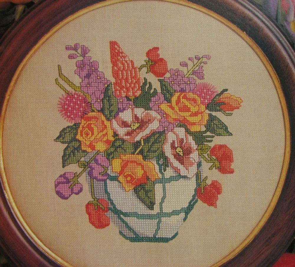 Summer Vase of Flowers ~ Cross Stitch Chart