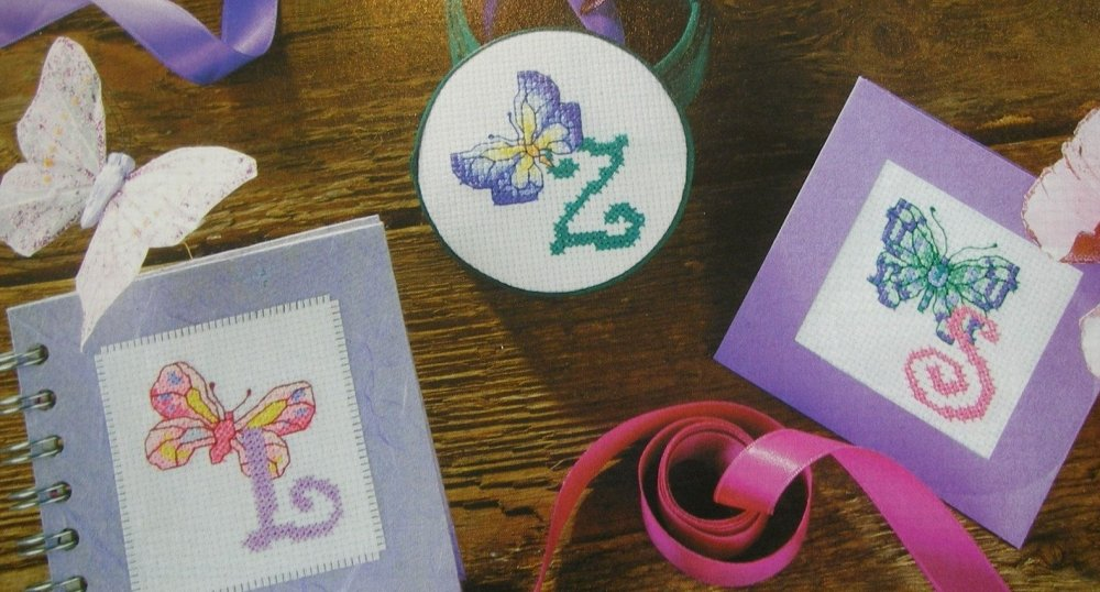 Butterfly ABC Alphabet & 0 to 9 Numbers ~ 36 Cross Stitch Charts