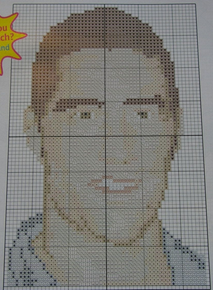 Lost Actor Matthew Fox ~ Celebrity Cross Stitch Chart
