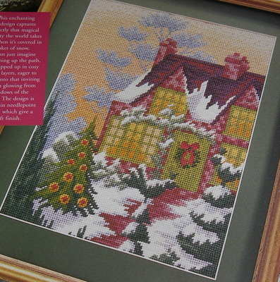 Winter Cottage with Snow ~ Needlepoint Pattern