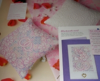 Wedding Ring Pillows & Cards ~ Boutis & Blackwork Embroidery Patterns