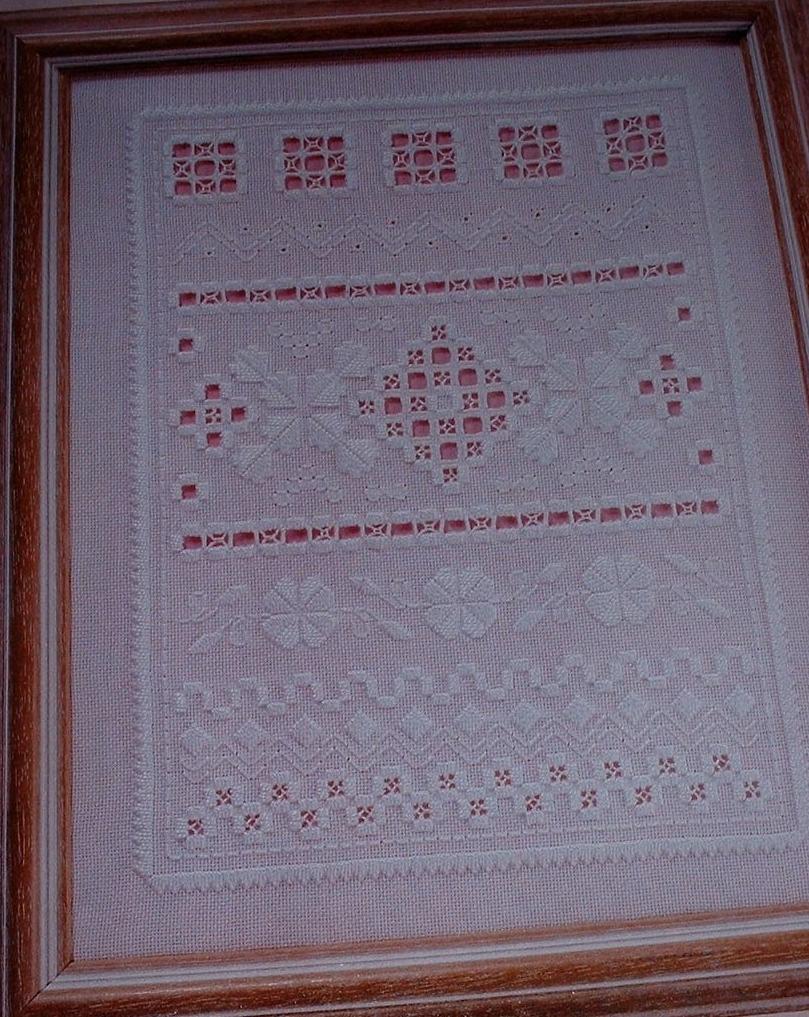 Hardanger Sampler ~ Hardanger Hand Embroidery Pattern