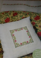Roses Cushion Curtain & Place Mats ~ Cross Stitch, Hardanger & Pulled Work Pattern